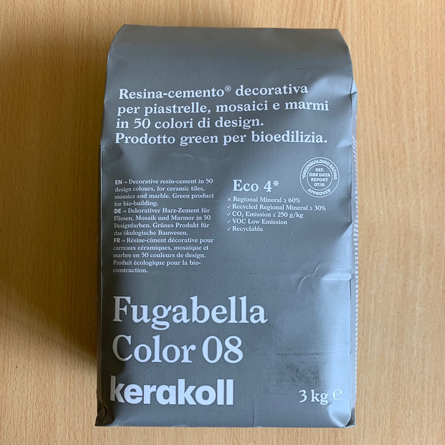 Fugabella Porcelain Grout 3kg – Color 08 – Light Grey
