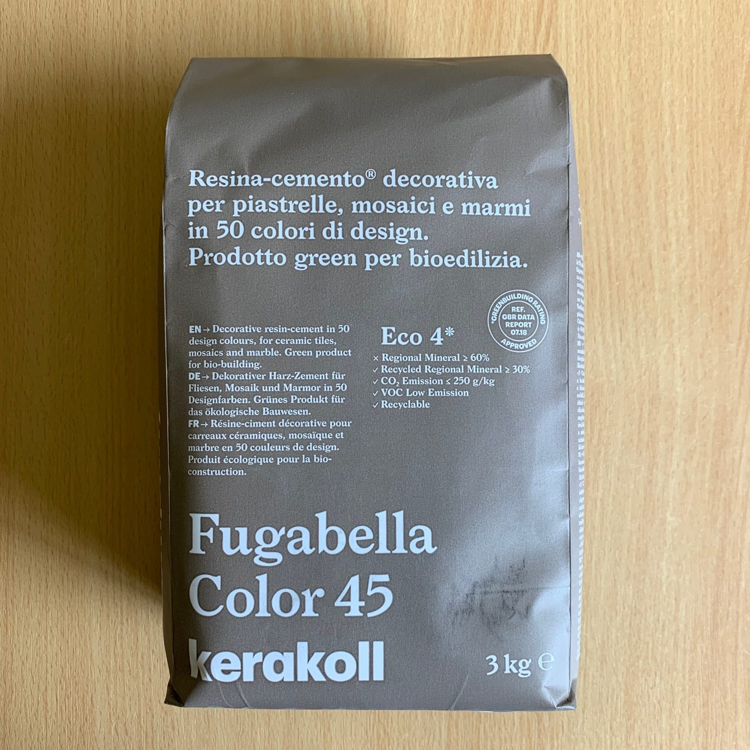 Fugabella Porcelain Grout 3kg – Color 45 – Light Brown