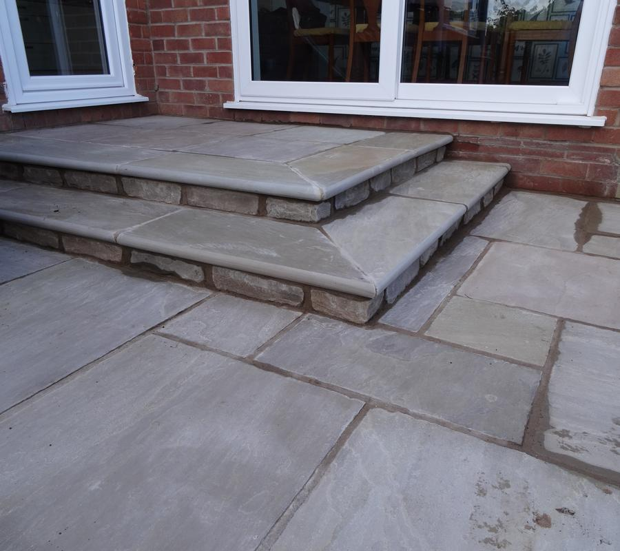 Indian Stone Bullnose Steps